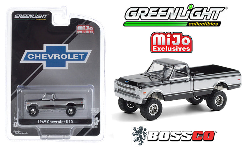 "GREENLIGHT - 1969 CHEVROLET K10 TRUCK ""BLACK"""