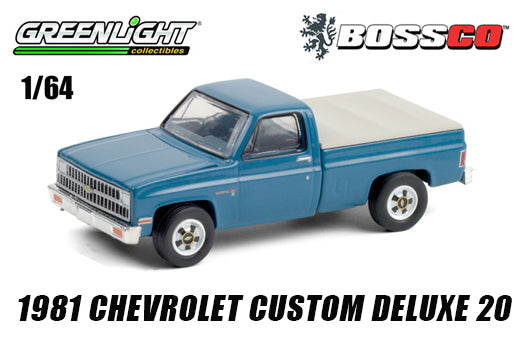 GREENLIGHT - 1981 CHEVY CUSTOM DELUXE 20 (BLUE)