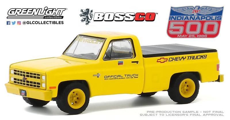GREENLIGHT - 1986 CHEVY SILVERADO INDY 500 TRUCK (YELLOW)