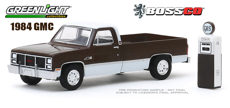 GREENLIGHT - 1984 GMC 2500 HIGH SIERRA w/GAS PUMP ***PRE ORDER***