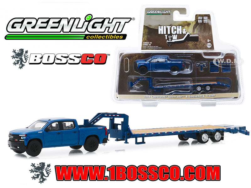 GREENLIGHT - 2019 CHEVY SILVERADO 1500 w/ TRAILER