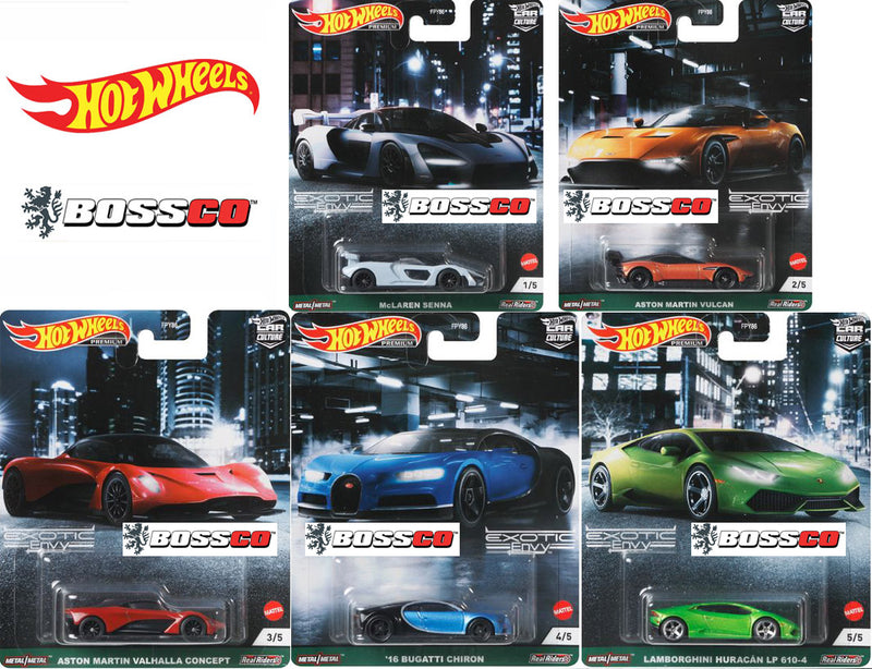 "HOT WHEELS - ""EXOTIC ENVY"" (SET of 5) *** PRE ORDER ***"