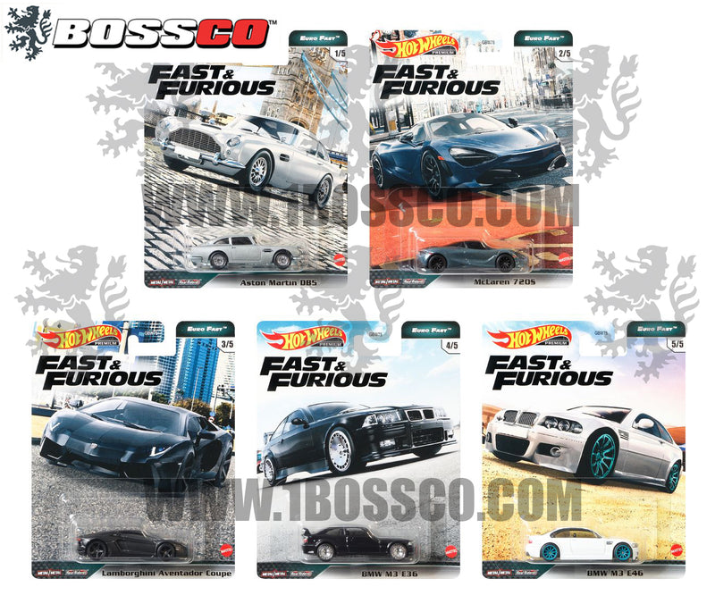 "HOT WHEELS - ""FAST & FURIOUS EURO FAST (SET of 5)"