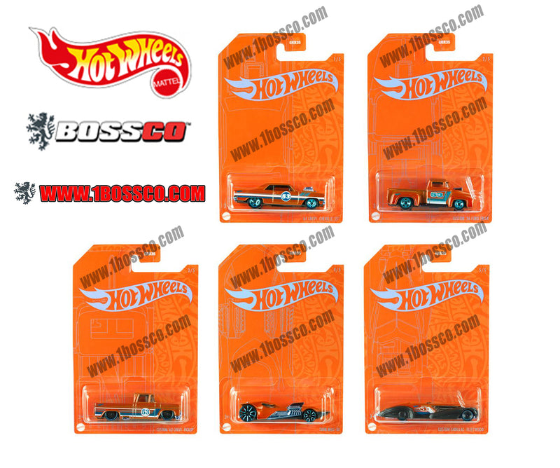 HOT WHEELS - ORANGE & BLUE EMC  (SET of 5)