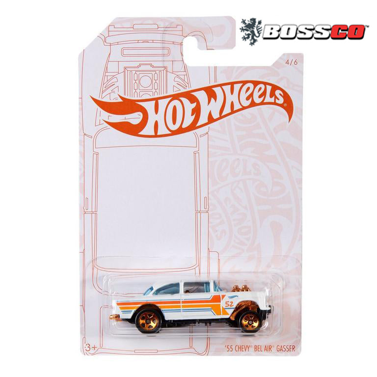 HOT WHEELS - PEARL & CHROME '55 CHEVY GASSER