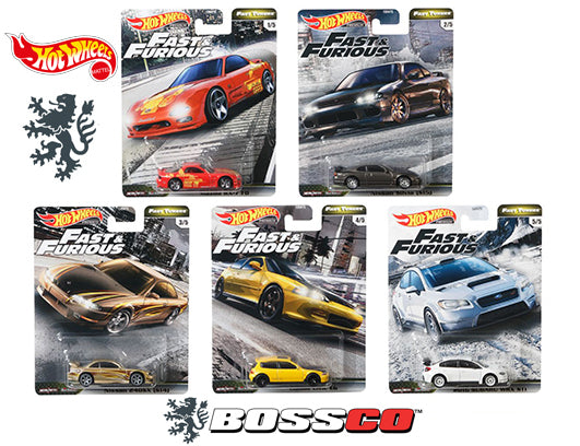 "HOT WHEELS - FAST & FURIOUS ""FAST TUNER"" (SET of 5)"