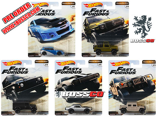 HOT WHEELS - FAST & FURIOUS OFF-ROAD (SET of 5)