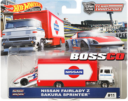 HOT WHEELS - TEAM TRANSPORT NISSAN FAIRLADY Z & SAKURA SPRINTER