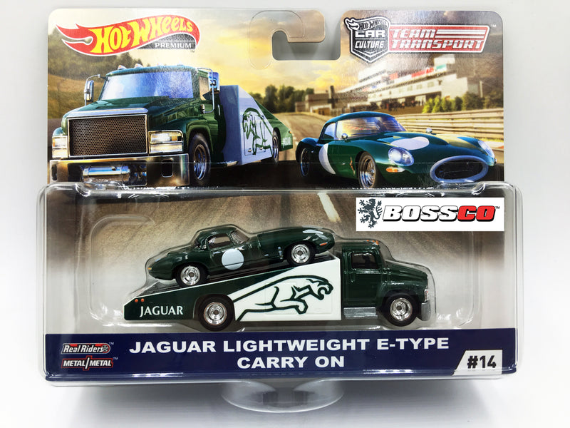 HOT WHEELS -  TEAM TRANSPORT JAGUAR E-TYPE & CARRY ON