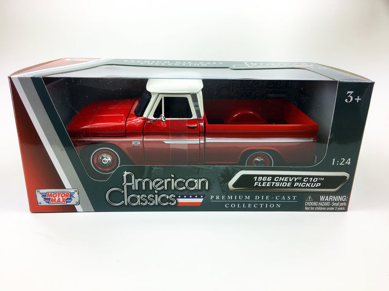 "MOTOR MAX - 1/24 1966 CHEVROLET C10 FLEETSIDE ""RED & WHITE"""