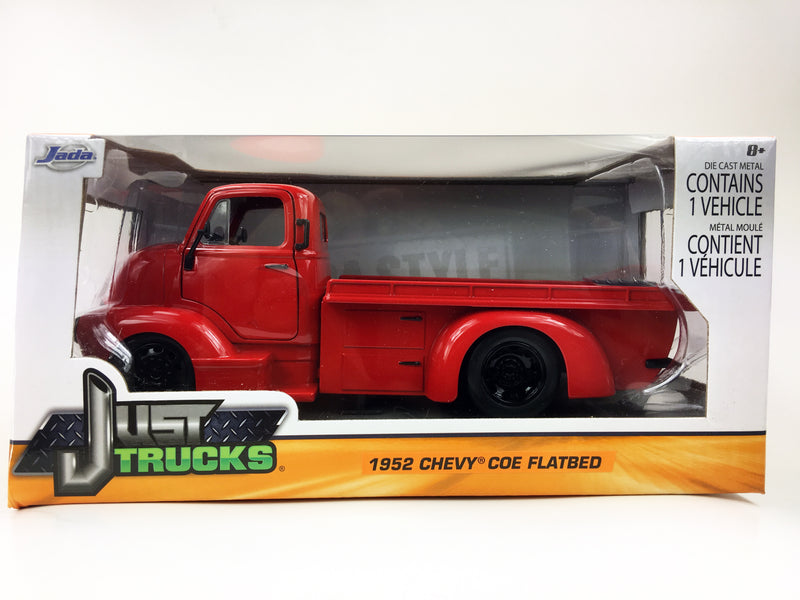 "JADA TOYS - 1/24 1952 CHEVROLET COE FLATBED ""RED"""