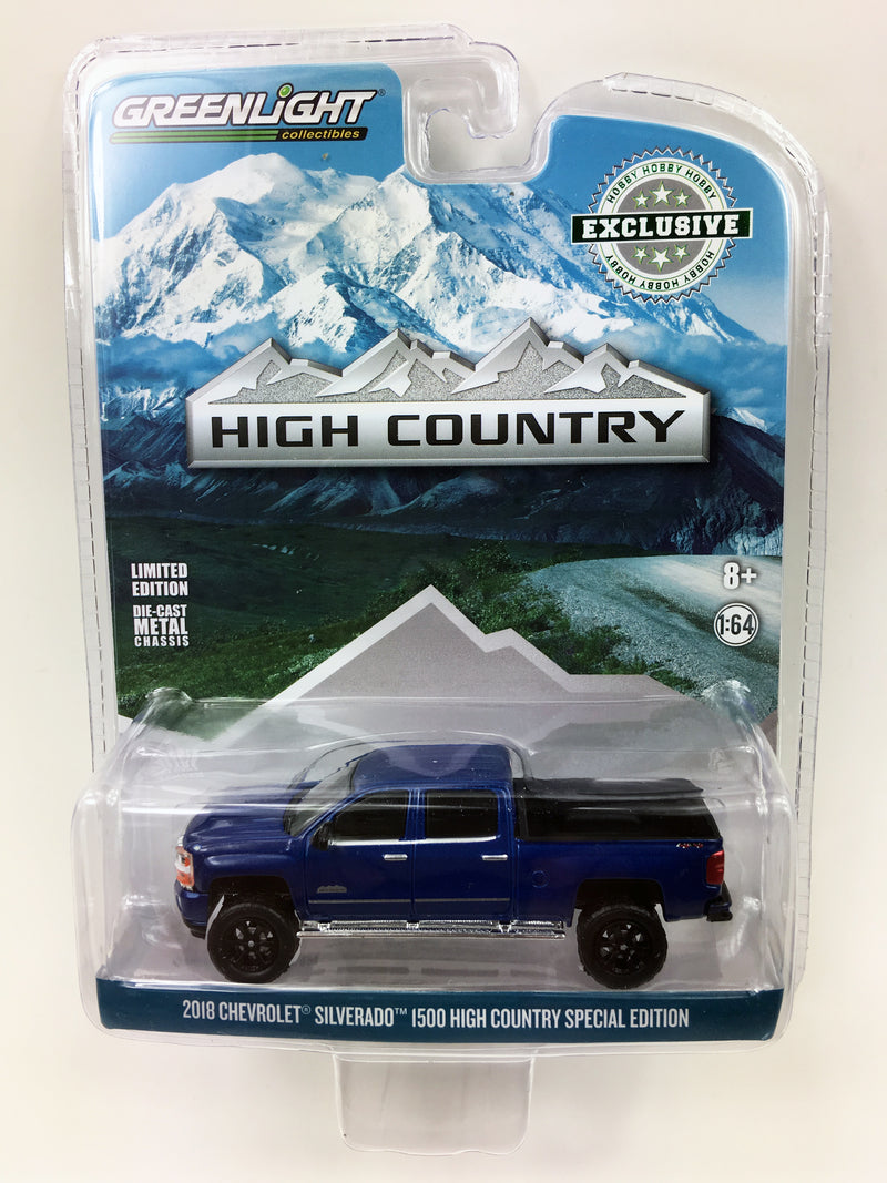 "GREENLIGHT - 2018 CHEVROLET SILVERADO HIGH COUNTRY ""BLUE"""