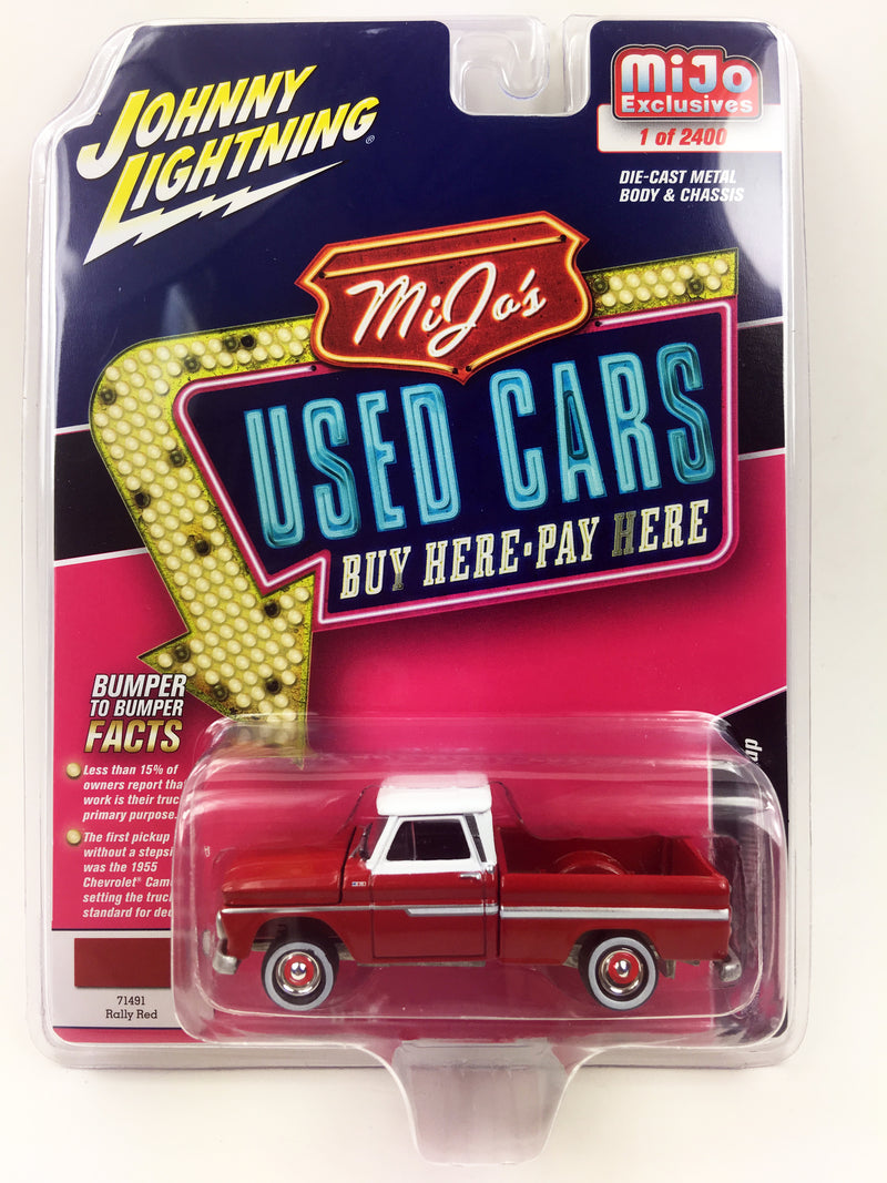 "JOHNNY LIGHTNING - 1965 CHEVROLET TRUCK MIJO EXCLUSIVE ""RED with WHITE TOP"""