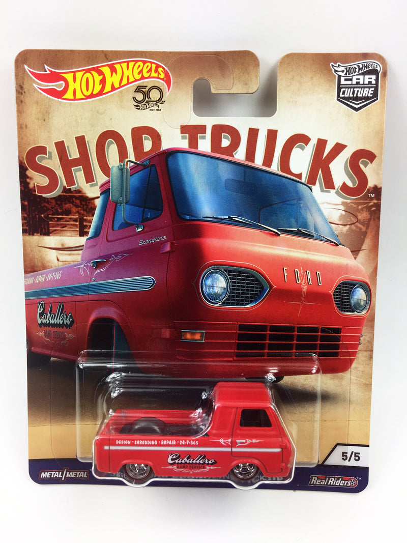 HOT WHEELS - SHOP TRUCKS CUSTOM '60's FORD ECONOLINE PICKUP