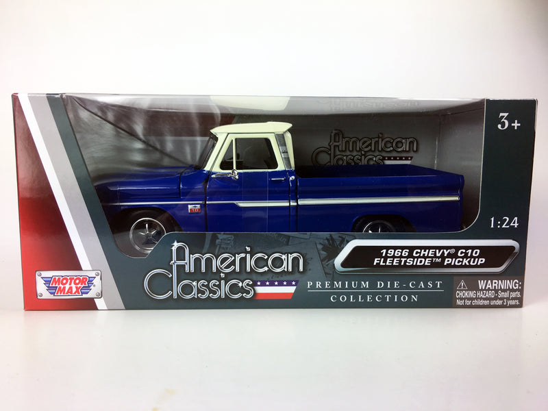 "MOTOR MAX - 1/24 1966 CHEVROLET C10 FLEETSIDE ""BLUE"""