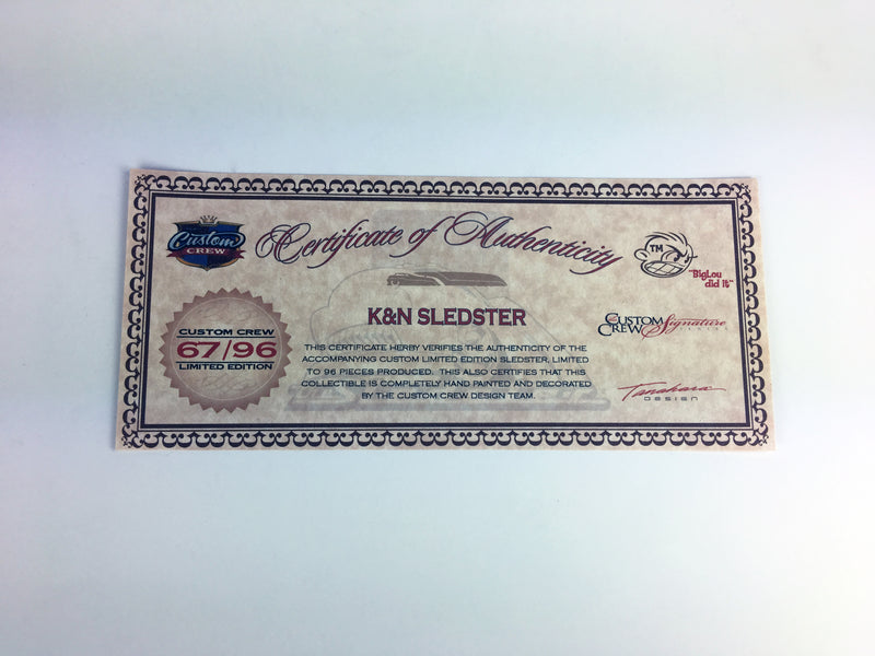 SIGNATURE SERIES - SLEDSTER TANKER K&N  1 of 96