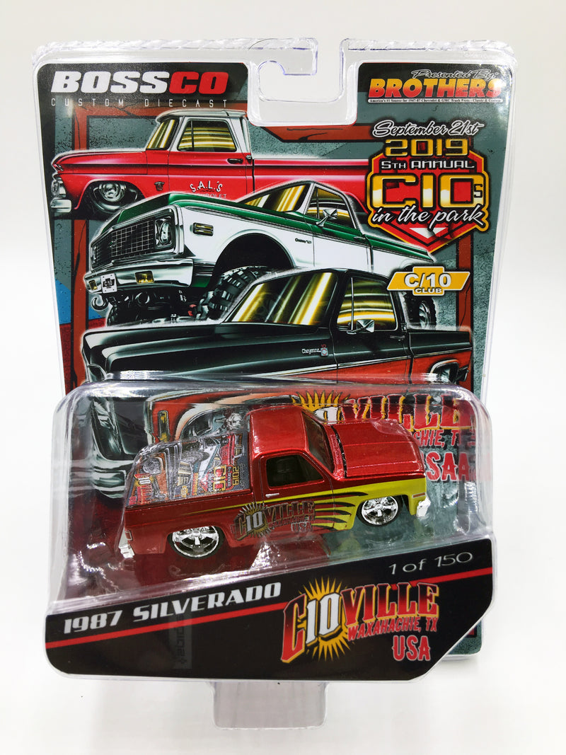 "MAISTO - 2019 COMMEMORATIVE ""C10'S in the PARK"" 87 SILVERADO"