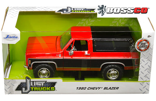 "JADA TOYS - 1/24 1980 CHEVY BLAZER K5 ""RED & BLACK"""