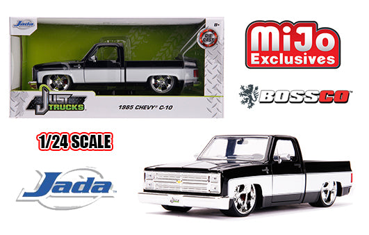 "JADA TOYS - 1/24 1985 CHEVROLET C10 ""BLACK & WHITE"""