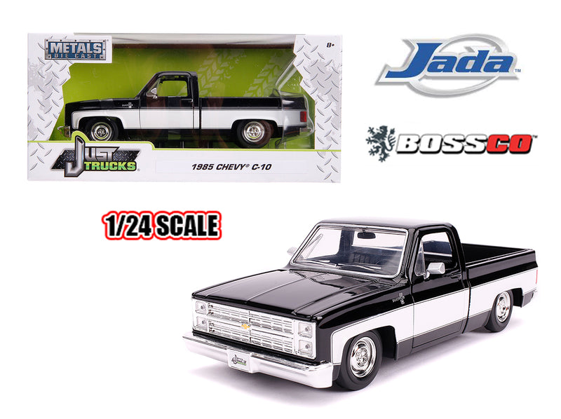 "JADA TOYS - 1/24 1985 CHEVROLET C10 STOCK ""BLACK & WHITE"""