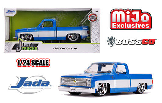 "JADA TOYS - 1/24 1985 CHEVROLET C10 ""BLUE & WHITE"""