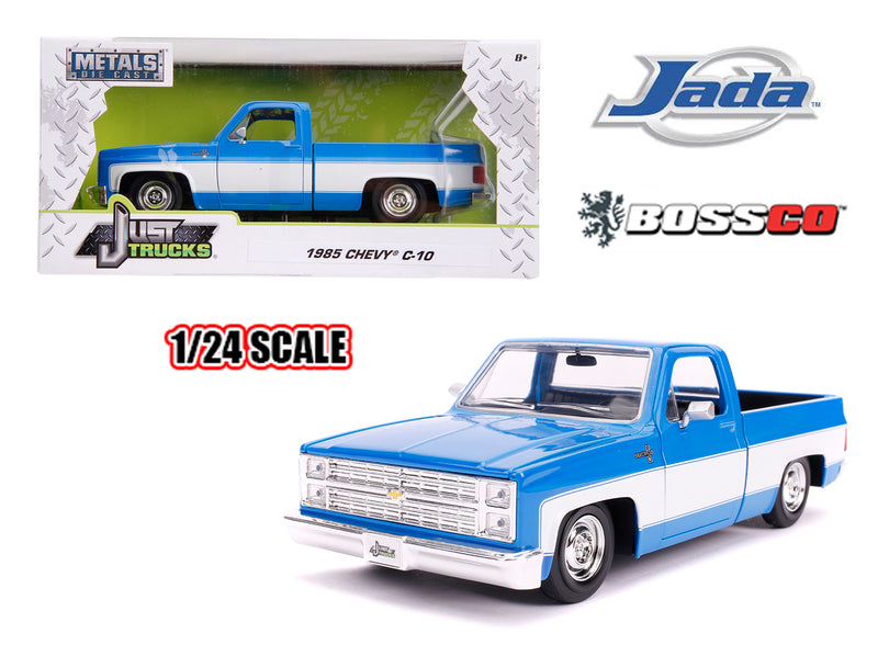 "JADA TOYS - 1/24 1985 CHEVROLET C10 STOCK ""BLUE & WHITE"""