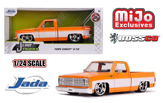 "JADA TOYS - 1/24 1985 CHEVROLET C10 ""ORANGE & WHITE"" *** PRE ORDER ***"