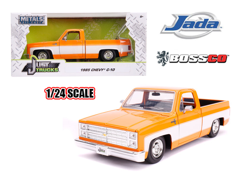 "JADA TOYS - 1/24 1985 CHEVROLET C10 STOCK ""ORANGE & WHITE"""