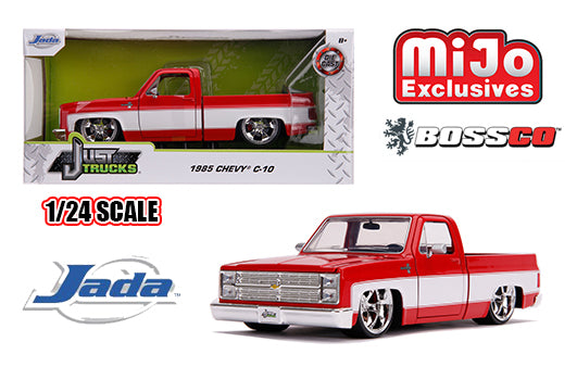 "JADA TOYS - 1/24 1985 CHEVROLET C10 ""RED & WHITE"""