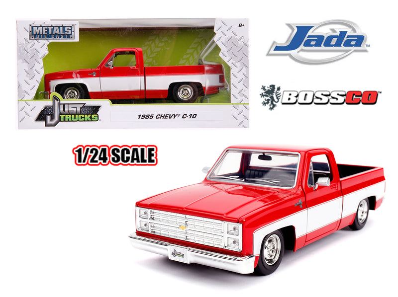 "JADA TOYS - 1/24 1985 CHEVROLET C10 STOCK ""RED & WHITE"""