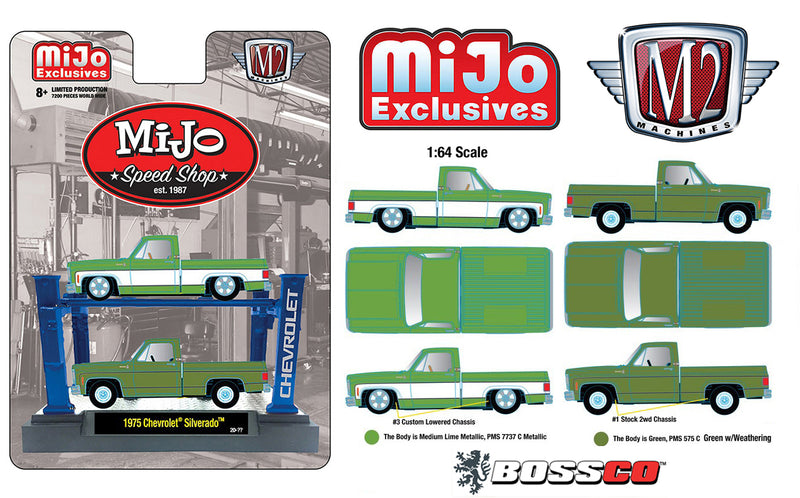 "M2 '75 CHEVROLET TRUCK SET with LIFT ""GREEN"""