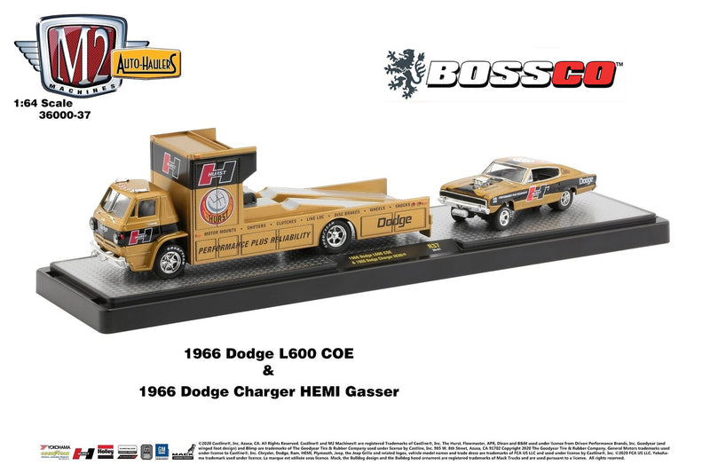 M2 '66 DODGE L600 COE & '66 CHARGER HEMI GASSER (SET)