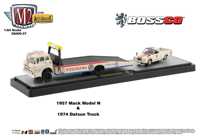 M2 '57 MACK MODEL N & '74 DATSUN TRUCK (SET)