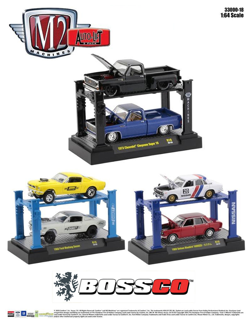 "M2 AUTO-LIFT 2 PACK  ""SET of 3"""