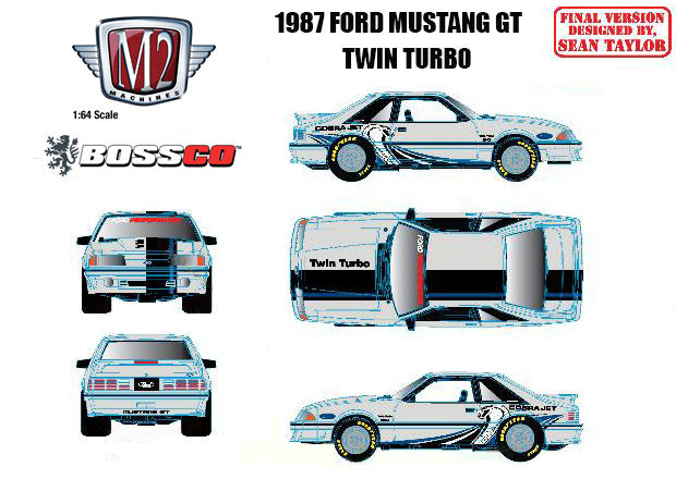 "M2 '87 FORD MUSTANG GT - TWIN TURBO ""FOX BODY"""
