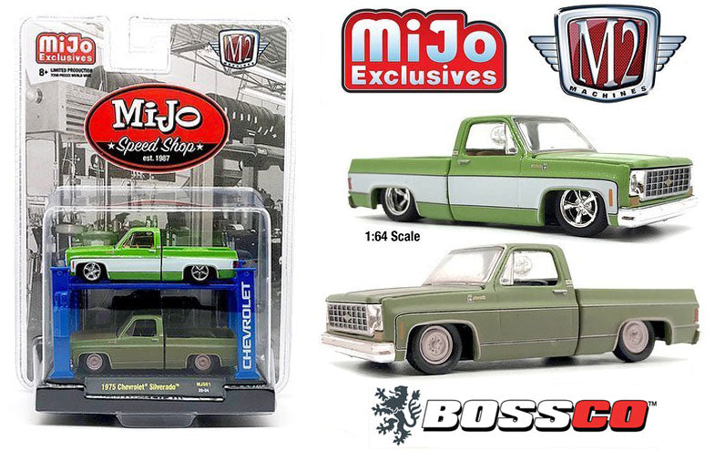 "M2 '75 CHEVROLET TRUCK SET with LIFT ""GREEN"" *** PRE ORDER ***"