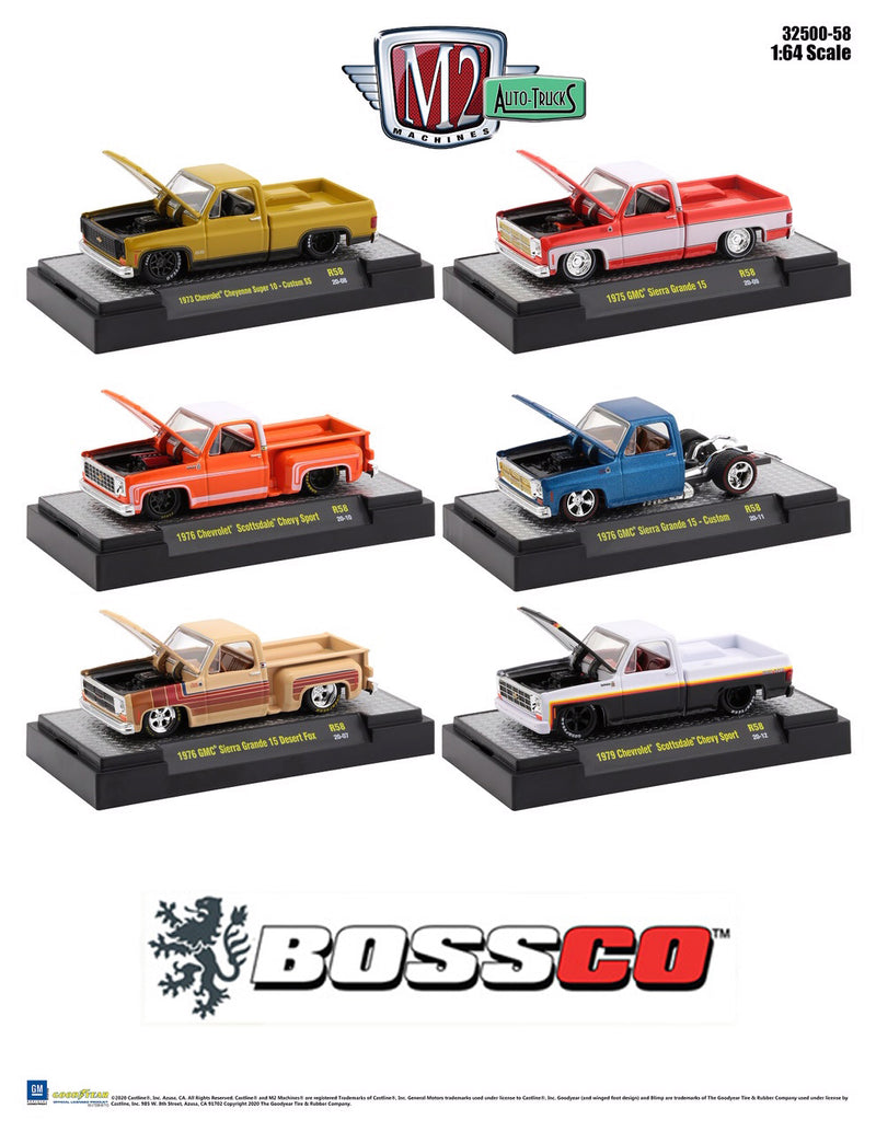 "M2 CHEVY SQUAREBODY ""SET of 6"" *** PRE ORDER ***"