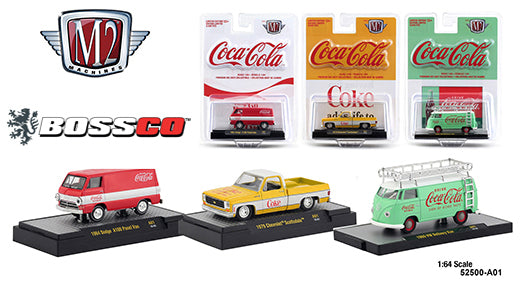 M2 COCA-COLA 2019 (SET of 3) INCLUDES '79 CHEVY TRUCK