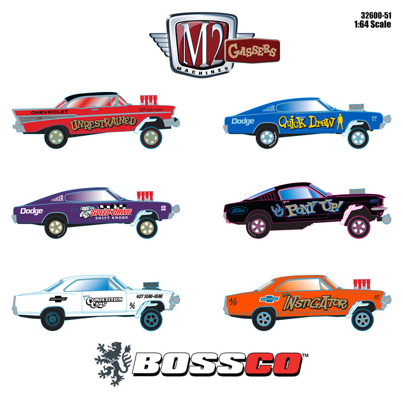 M2 GASSERS RELEASE 51 ASSORT. (SET of 6)  PRE-ORDER