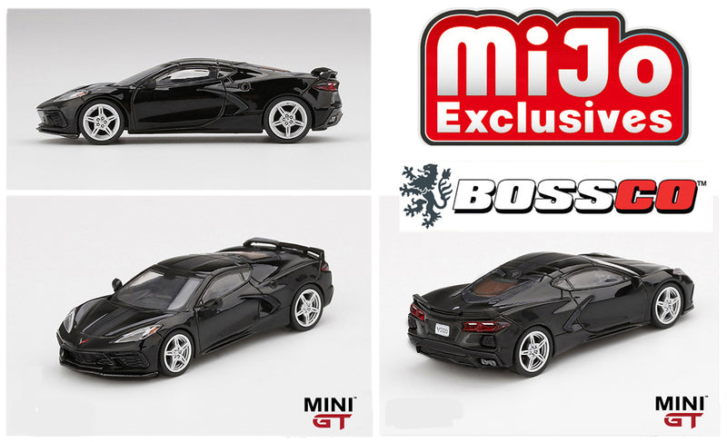"MINI GT - 2020 CHEVY CORVETTE STINGRAY ""BLACK"""