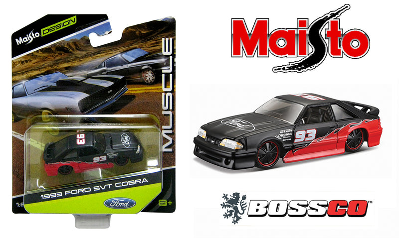 "MAISTO - 93 FORD SVT COBRA ""FLAT BLACK & RED"""