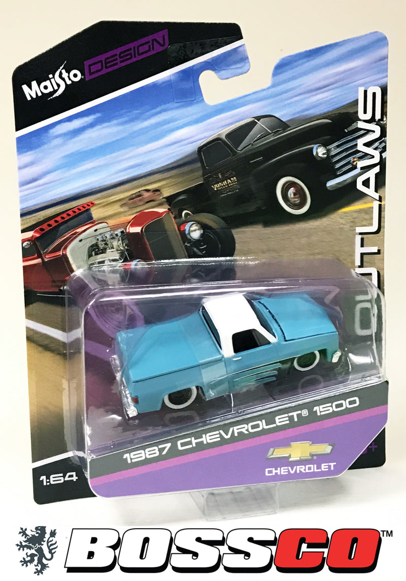 "MAISTO - 1987 CHEVY SILVERADO ""OUTLAW"" (TEMPORARILY OUT OF STOCK)"
