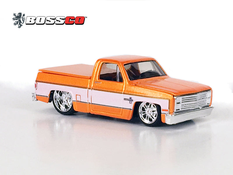 "MAISTO - BOSSCO 87' CHEVY SILVERADO ""METALLIC ORANGE"" ""LOOSE"""