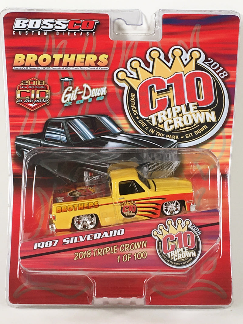 "MAISTO - COMMEMORATIVE TRIPLE CROWN 87 CHEVY ""1 OF 100"""