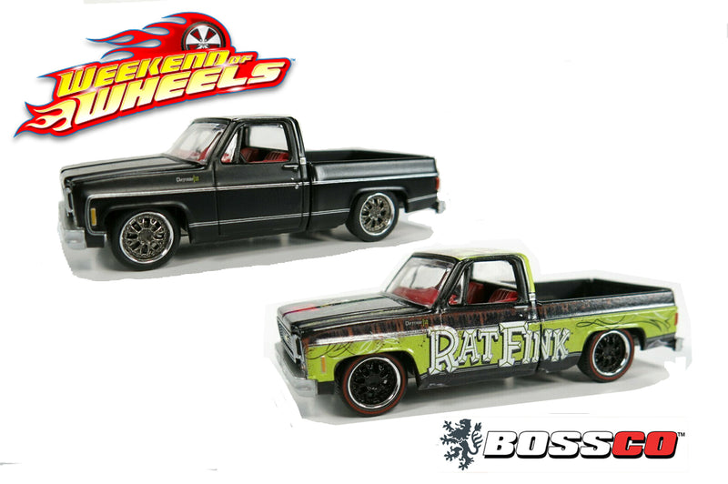 "AUTOWORLD - ""WEEKEND OF WHEELS"" '73 CHEVY TRUCK (SET of 2) ***PRE ORDER***"