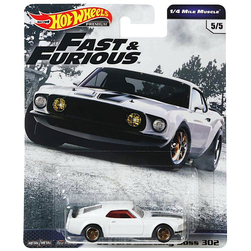 HOT WHEELS -  FAST & FURIOUS '69 FORD MUSTANG BOSS 302