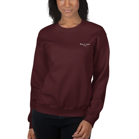 Maroon Twice As Warm Embroidered Crew Sweatshirt