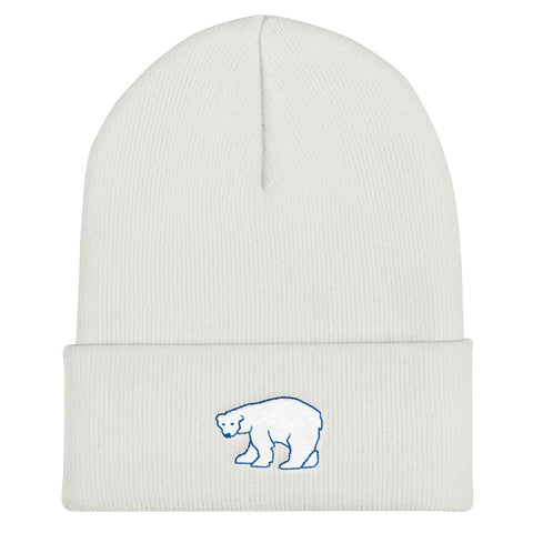 Polar Bear In A Snowstorm Beanie