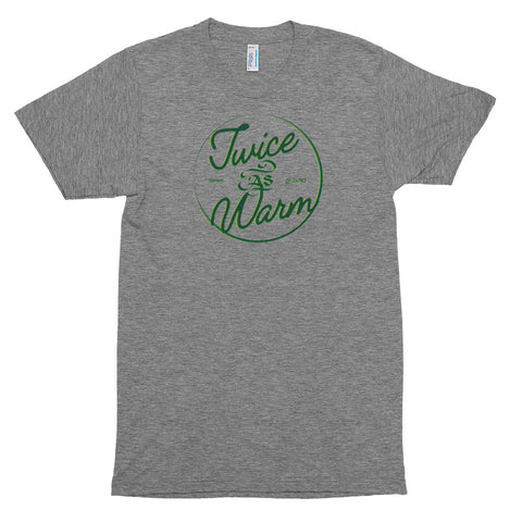 Heather Gray with Green Accents Vintage Tee