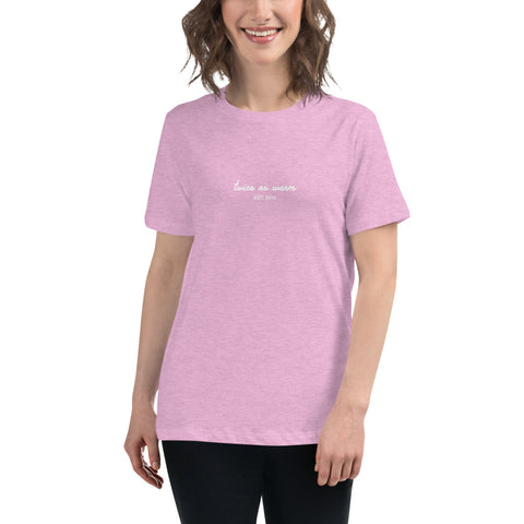 Women's Pink Twice As Warm Relaxed fit tee